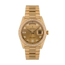 Rolex 118348 Yellow gold 2017 Day-Date 36 36mm pre-owned