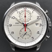 IWC Portuguese Yacht Club Chronograph Ocel 45.4mm Bílá Arabské
