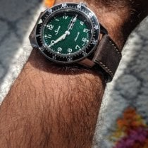 Sinn 104 Steel 41mm Green Arabic numerals United States of America, Illinois, CHICAGO