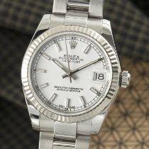 Rolex Lady-Datejust tweedehands 31mm Wit Datum Staal