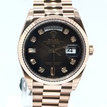 Rolex Day-Date 36 128235 Новые Pозовое золото 36mm Автоподзавод