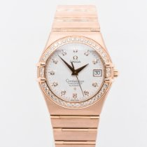 Omega Rose gold Automatic White No numerals 35mm pre-owned Constellation