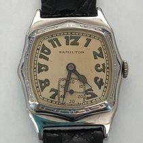 Hamilton White gold Manual winding White Arabic numerals 29mm pre-owned