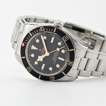Tudor Steel Automatic Black No numerals 39mm pre-owned Black Bay Fifty-Eight