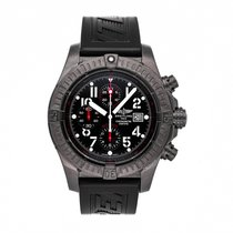Breitling Super Avenger pre-owned 48mm Black Chronograph Date Rubber