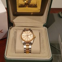 Rolex Oyster Perpetual Date Gold/Steel No numerals