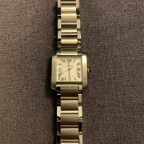 Cartier Tank Française Steel 28mm White Roman numerals Singapore, 439957