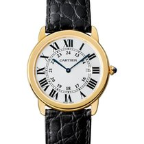 Cartier Yellow gold Quartz Silver Roman numerals 36mm new Ronde Solo de Cartier