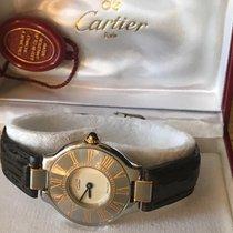 Cartier 21 Must de Cartier Gold/Stahl 28mm Weiß Römisch Deutschland, Grünwald