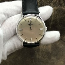 Omega White gold Manual winding Silver 33mm pre-owned De Ville