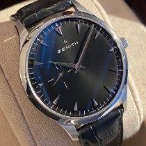 Zenith Elite Ultra Thin Acier 40mm Noir Sans chiffres
