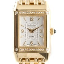 Jaeger-LeCoultre Yellow gold Manual winding Silver 28.5mm pre-owned Reverso Lady