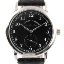 A. Lange & Söhne pre-owned Manual winding 36mm Black Sapphire crystal