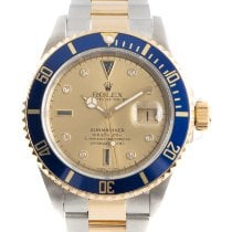 Rolex Submariner Date 16613 Very good Gold/Steel 40mm Automatic