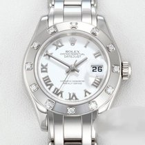 Rolex Lady-Datejust Pearlmaster White gold 29mm White Roman numerals