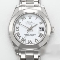Rolex Lady-Datejust Pearlmaster Bjelo zlato 34mm Bjel Rimski brojevi
