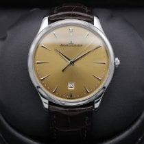 Jaeger-LeCoultre Master Ultra Thin Date pre-owned 40mm Champagne Date Crocodile skin