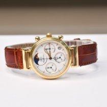 IWC Da Vinci Chronograph Or jaune 29mm Blanc Sans chiffres