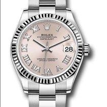 Rolex Datejust 31 Steel 31mm Pink Roman numerals