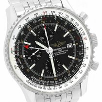 Breitling Navitimer World Steel 46mm Black United States of America, New York, Massapequa Park