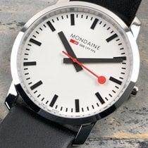 Mondaine Simply Elegant Steel White No numerals
