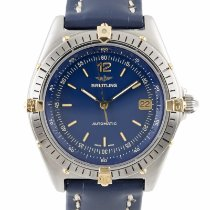 Breitling Antares pre-owned 39mm Blue Date Calf skin
