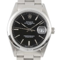 Rolex Oyster Perpetual Date Steel 34mm Black