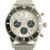 Breitling Ceramic Automatic Silver 43.5mm pre-owned Superocean Heritage II Chronographe