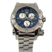 Breitling Emergency pre-owned 45mm Blue Chronograph Steel