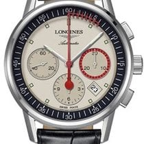 Longines Steel Automatic Grey 40mm new Column-Wheel Chronograph