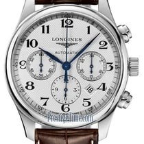 Longines Steel Automatic Silver 42mm new Master Collection