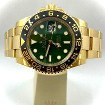 Rolex Желтое золото Автоподзавод Зеленый Без цифр 40mm подержанные GMT-Master II