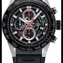 TAG Heuer Carrera Calibre HEUER 01 Steel 45mm Black No numerals United States of America, Texas, Houston