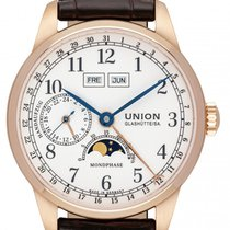 Union Glashütte 1893 Rose gold 41mm White