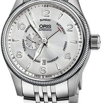 Oris Big Crown Small Second Pointer Day Steel 44mm Silver