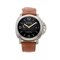 Panerai Titanium Automatic Brown 44mm pre-owned Luminor Marina 1950 3 Days Automatic