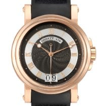Breguet Rose gold Automatic Black Roman numerals 39mm pre-owned Marine
