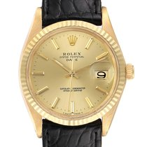 Rolex 1503 Yellow gold 1970 Oyster Perpetual Date 34mm pre-owned