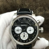 Eberhard & Co. pre-owned Automatic 42mm Black Sapphire crystal