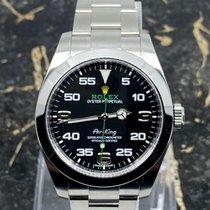 Rolex Air King Ocel 40mm Černá Arabské