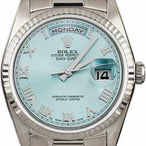Rolex Белое золото 36mm Синий