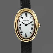 Cartier Baignoire Желтое золото Белый Римские