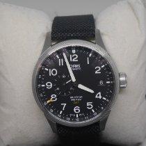 Oris Big Crown ProPilot GMT occasion 45mm Noir Date GMT Textile