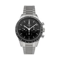 Omega Steel Manual winding Black No numerals 39.7mm pre-owned Speedmaster Professional Moonwatch