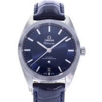 Omega Globemaster pre-owned 39mm Blue Date Leather