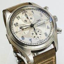 IWC Fliegeruhr Spitfire Chronograph Stahl 42mm Silber Arabisch Deutschland, Puchheim bei München
