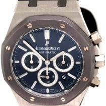Audemars Piguet Royal Oak Chronograph Платина 41mm Синий Без цифр