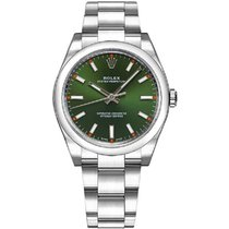 Rolex Oyster Perpetual 34 Steel 34mm Green No numerals United States of America, New York, New York