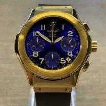 Hublot Sarı altın Otomatik Mavi Arap rakamları 40mm ikinci el Elegant