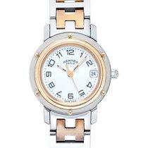 Hermès Clipper używany Biały